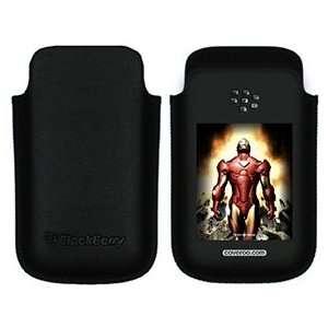 Iron Man Breaking on BlackBerry Leather Pocket Case