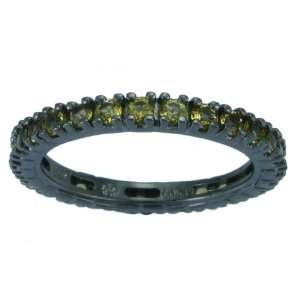 Over Sterling Silver Citrine Eternity Band Ring, Size 6 Jewelry