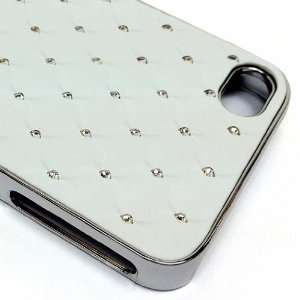 Diamond Chip Resistant Crystal Bling Chrome Case for Apple iPhone 4 4S