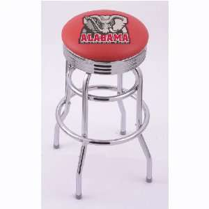 Alabama Crimson Tide 30 Double Ring Swivel Bar Stool with 2.5 Ribbed