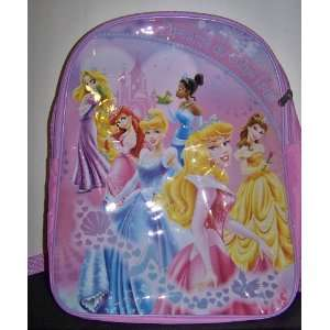 Disney Princess Backpack School Bag Dreams DO Come True Featuring