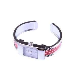 Red Fashion Small Square Bracelet Wrist Watch For Ladies Girls Women