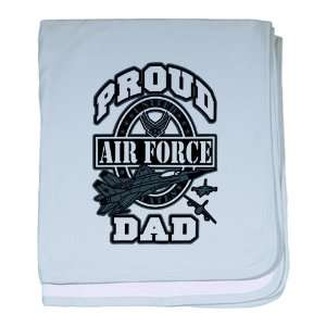 Baby Blanket Sky Blue Proud Air Force Dad Jets Everything Else