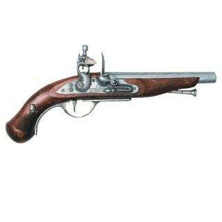 17th Century Triple Barrel Flintlock Pistol   Metal