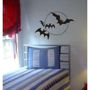 Flying Bats Decal Sticker Wall Children Boys Nursery Kids Animal Moon