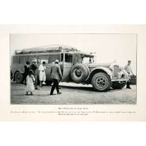 1929 Print Overland Desert Mail Truck Car Delivery