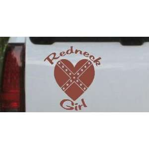 Redneck Girl Rebel Heart Country Car Window Wall Laptop Decal Sticker