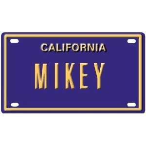 Mikey Mini Personalized California License Plate