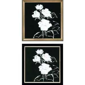 Brushstrokes Fine Art White to Black Roses Series White to Black Roses