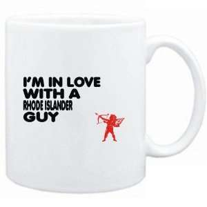 Mug White  I AM IN LOVE WITH A Rhode Islander GUY  Usa