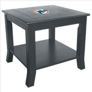 Imperial Miami Dolphins Side Table With Reversible Panel Each: