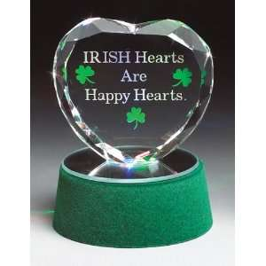 Glass Heart   Irish Hearts Are Happy Hearts Glass