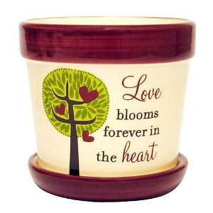 New View 7.4 oz. Love Blooms Flower Pot Candle