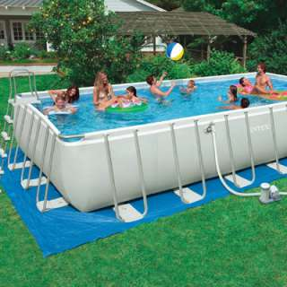 Intex Ultra Frame Swimming Pool   24 Feet x 12 Feet x 52 Inches