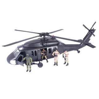Team Elite World Peacekeepers Black Hawk Helicopter  Action Toys