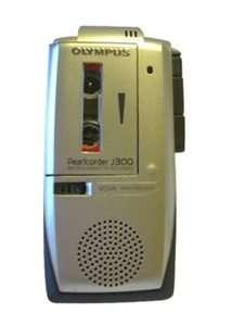 Olympus Pearlcorder J300 3 Hours Handheld Cassette Voice Recorder
