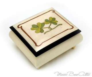 music jewelry boxes astonishing hand inlay of an irish celtic shamrock