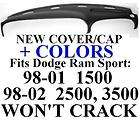 sport pickup truck dash cover cap panel dashboard board fits dodge ram