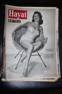 Actress Valerie Allen Hayat Turkish Mag. 1957