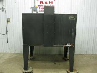 at a Peerless Ovens Propane LP gas double deck / stone pizza oven