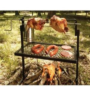 Cooking Open Fire Grill Rotisserie Grill and Spit Campfire Grilling