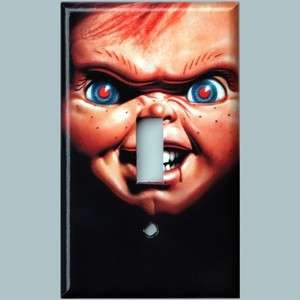 CHILDS PLAY Chucky Doll Wall Light Switchplate Cover