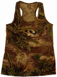 Missouri Tigers Womens Tank Top RealTree The Game Camo (M)