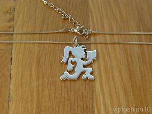 ICP HATCHET GIRL ICED OUT PLAIN PENDANT 21 NECKLACE