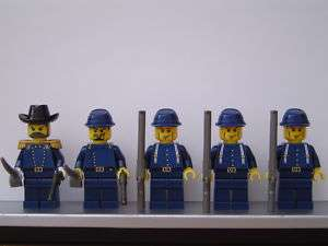 Lego WESTERN American Civil War Dark Blue UNION Soldiers Minifigs