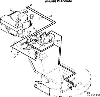 Craftsman 30 in. riding lawn mower recoil start 7 h.p. Wiring diagram