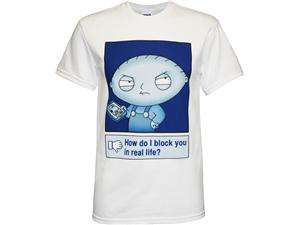 Family Guy Stewie Griffin Block You in Real Life Mens T Shirt