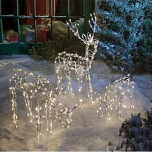 Lighted Reindeer Family Set 3 Christmas Yard Decoration Outdoor New