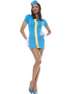 Mod Air Hostess Costume BLUE (ref: 90207)