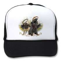 Perfect Angel Pugs Hats by friskybiz
