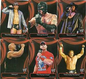 2011 Topps WWE Catchy Phrases 10 Card Insert Set Cena, Ryder, Rock