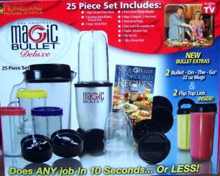NEW MAGIC BULLET DELUXE Food Blender Processor 25 Set