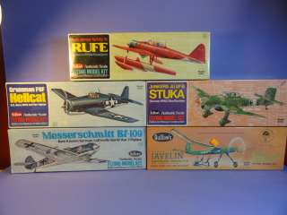 VINTAGE GUILLOWS BALSA WOOD MODEL AIRPLANE KITS SEALED NIB 1976
