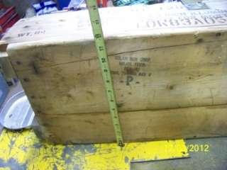 Wooden ammo boxes vintage cannon artilliry