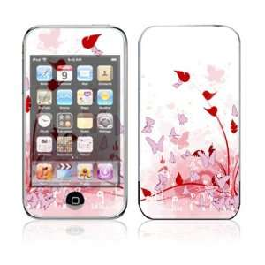 Pink Butterfly Fantasy Design Skin Decal Sticker for Apple iPod