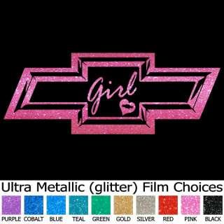 Pink Metallic 3 D Look CHEVY BOWTIE 36 Window Decals