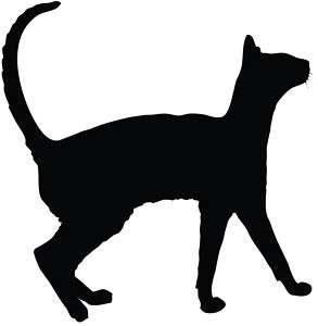 Cat Silhouette Kitten Car Decal Window Sticker