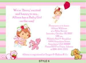 Strawberry Shortcake Baby Shower Invitations