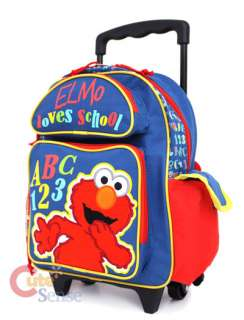 Sesame Street Elmo Shcool Rolling Backpack Roller Bag 2