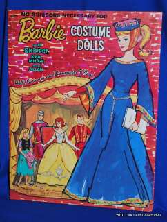 1964 Vintage Barbie Little Theater Paper dolls uncut. Near mint to