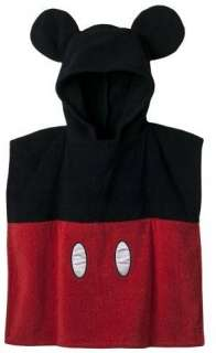 Hooded Mickey Mouse Bath Towel Poncho Child Size 032281366803