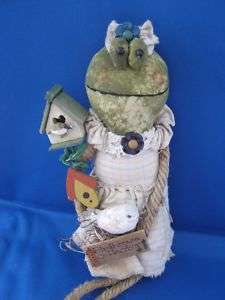 Frog Birdhouse Collector Bird House Plush Doll Shelf Sitter