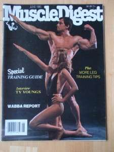 MUSCLE DIGEST bodybuilding fitness magazine/RICHARD BALDWIN 6 80