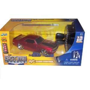 Remote Control Metallic Red 1969 Chevy Camaro 132 Scale RC Car Toys