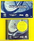 Chrysler Jeep Dodge Mopar Navigation Nav DVD 5064033 W/ Manual