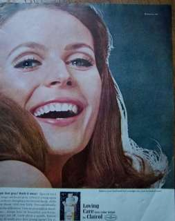 1967 CLAIROL Loving Care Hair Color Lotion Ad